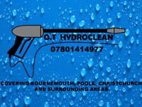 Pressure/jet wash services from O.T HYDROCLEAN. Driveway/patio restore and other cleaning services