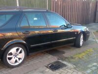 Saab 9-5 2.2tid linear sport estate 2004 model in black moted 2017 swap mini why? £675
