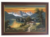 Fabulous genuine Oil Painting titled 'Schwarzwald, Germany' by Artur Franke