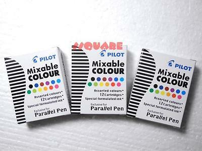 3 X 12 Colors Pilot Special Formulated Ink For Parallel Pen Assorted Colors