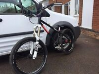 NS Bike Dirt jump Traffic frame, Highly modified, jump bike, bmx, downhill, full sus, trials.