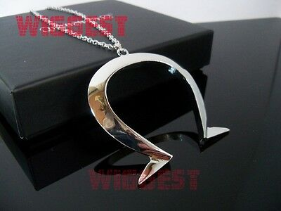 Alice: Madness Returns Omega Symbol Ω Silver Pendant Cosplay Necklace](Alice Omega Necklace)