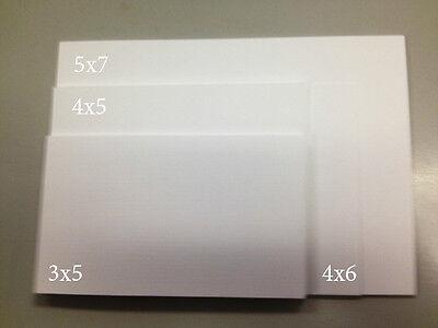 - 100lb. White Linen Card Stock Choose Size, Choose Quantity