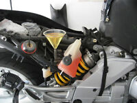 BMW motorcycle brake fluid change (incl. with ABS servo motor)