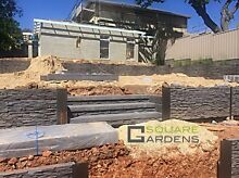 Retaining walls : timber, stone, concrete sleepers Adelaide CBD Adelaide City Preview