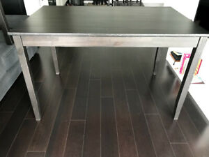 Ikea dining table, black-brown solid pine wood