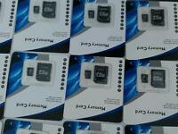 Job lot x50 256gb micro sd memory cards all new