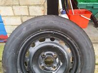 Vauxhall Corsa wheel and tyre from a 2004 car.