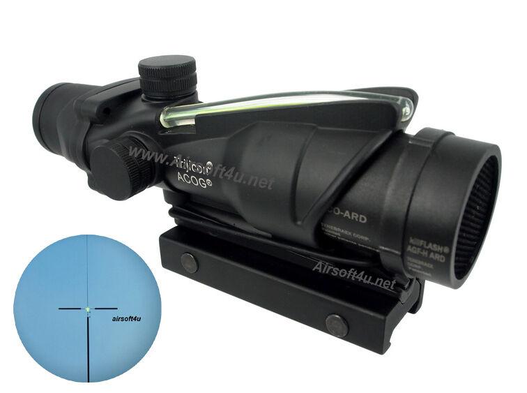 Real Fiber Optic Green illuminated 4x32 Rifle Scope M.acog.raf + Killflash