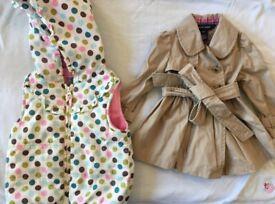 12 months Ralph Lauren designer baby trench coat and Tu Gilet