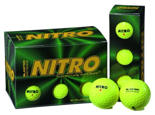 NITRO Blaster Golfbälle | 12er-Pack | Farbe: gelb+++ NEU