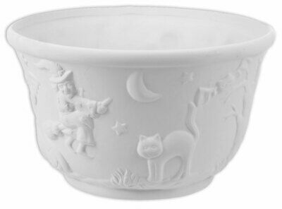 HALLOWEEN Candy Bowl Large Ceramic Bisque Ready to Paint Pottery