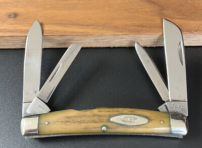RARE 1940-64 CASE XX 5488 STAG HANDLE LARGE CONGRESS POCKET KNIFE USER VERY NICE