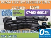 New Rome Leather Sofa - 3 and 2 Seater