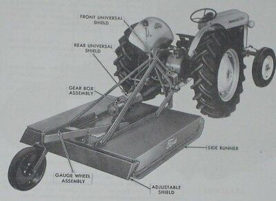 Ford Series 901 5 60 3pt Hitch Brush Cutter Bush Hog Owners Manual