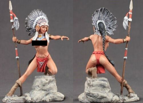 tin toy soldiers  painted Pegaso Girl 80mm Sweet Eagle