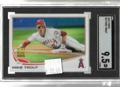 Mike Trout 2013 Topps rookie cup series 1 SGC 9.5 -- Angels