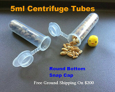 5ml Centrifuge Tubes Plastic Test Tubes Small Bottles Liquid Sample Container