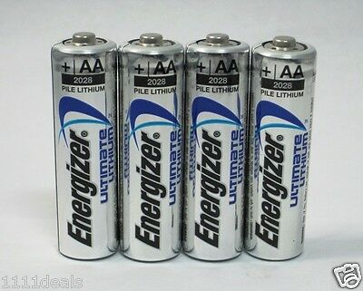 Energizer Ultimate Lithium AA L91 Batteries Expires 2036 x 4  + Free Holder for sale  Brooklyn