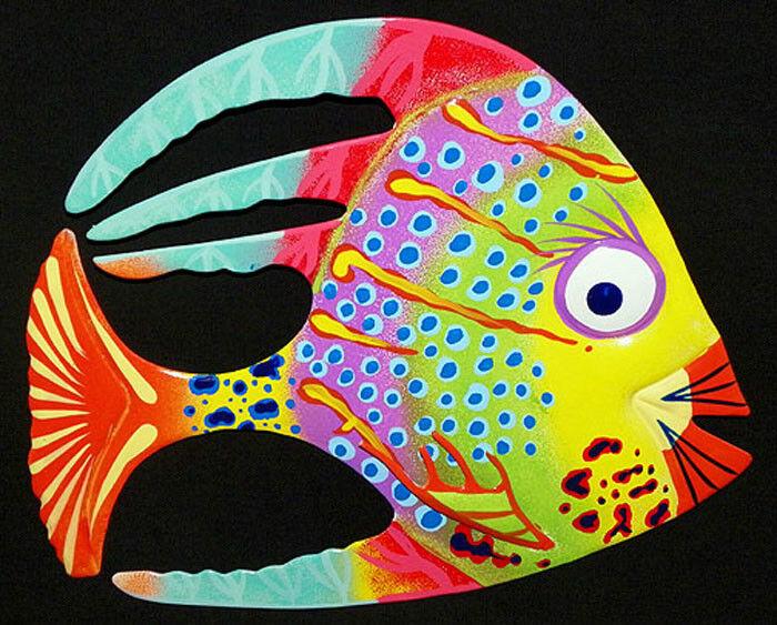 "54 Selections! Tropical Fish Wall Plaque 6/""X4/""~ Nautical Beach Sealife Decor~"