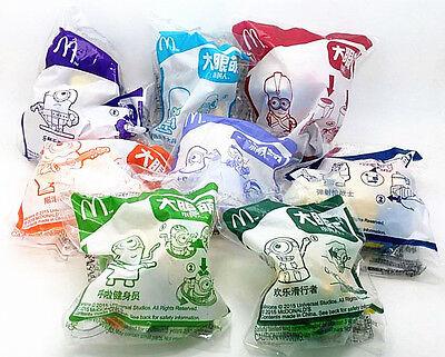 2015 The Minions McDonalds Happy Meal Toys Complete Set 8 PCS