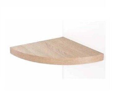Floating Wood Corner Shelf Shelves Wooden Oak Effect Wall Mounted Storage Unit  for sale  Shipping to Ireland
