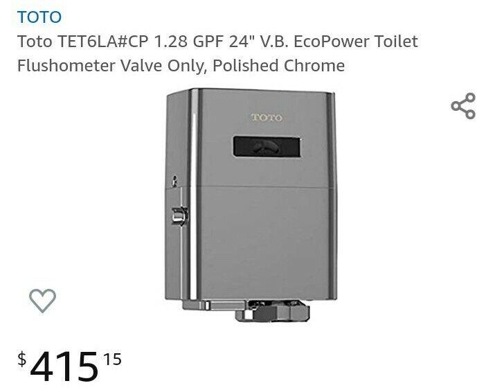 Toto TET6LA#CP Eco Power Toilet Flush Valve 1.28 GPF