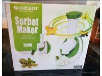 Silver crest sorbet maker