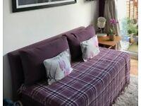 John lewis kip small double sofa bed plum good condition