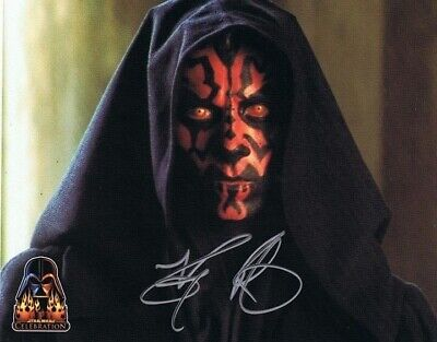Ray Park HAND SIGNED 10x8 Star Wars DARTH MAUL OPIX Photograph *In Person* COA