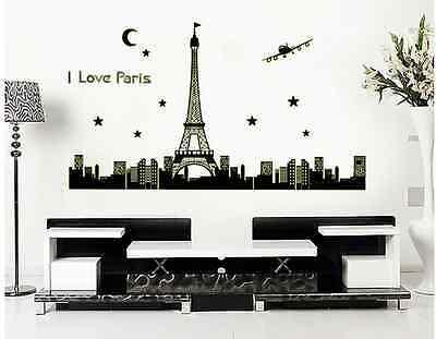 119 Wand (Wandtattoo Paris Eiffelturm Selbstleuchtend Wandsticker Night Glow #119)