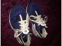 Size 5 blue and white huaraches!