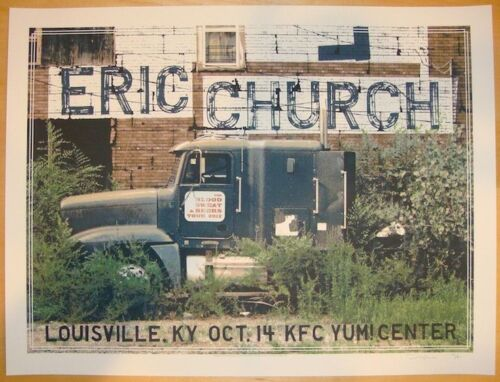 Eric Church 10/14/2012 Poster Yum Center Louisville KY Rare!!!