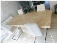 Marble dining Table and Matching coffee table set