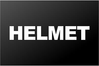 Helmet Metal Band Logo Vinyl Decal Car Window Guitar Laptop -