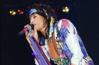 Aerosmith Steven Tyler Konzert in Mehrfarbig Outfit 11x17 Mini Poster