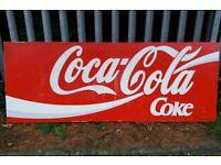 Large Metal Coca Cola Shop Front Steel Advertising Sign