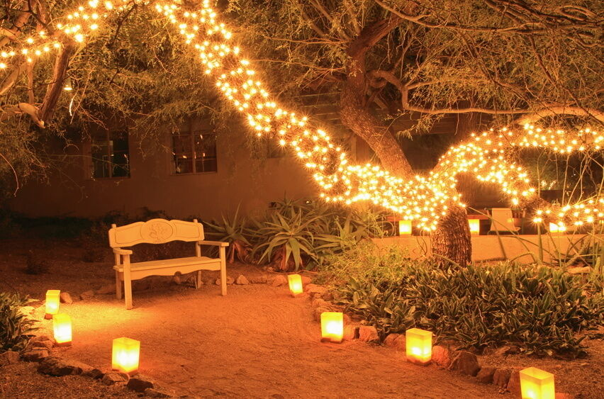 fairy lights patio how to use fairy lights to decorate your garden