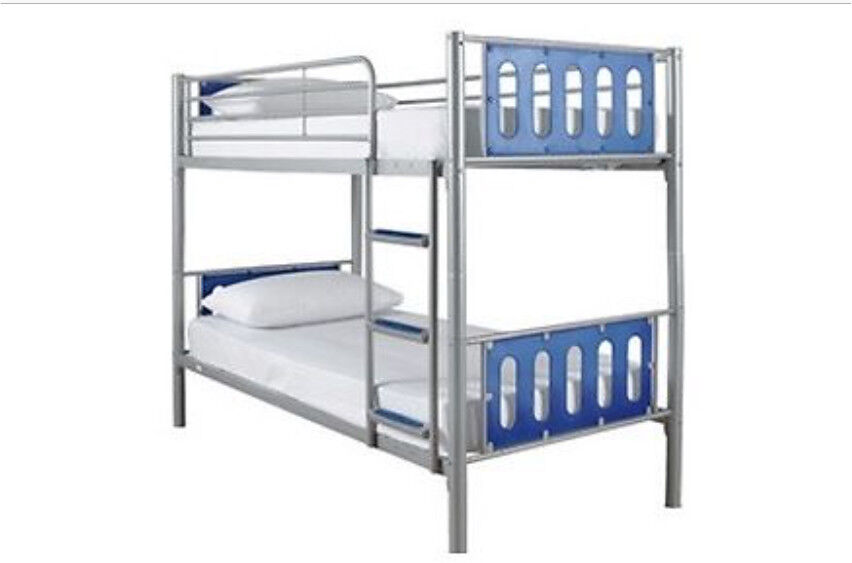 Silver And Blue Metal Bunk Beds 75 In Newcastle Tyne And Wear
