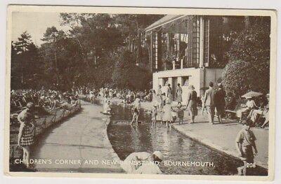 Dorset Postkarte - Kinder Ecke & Musikpavillon, Bournemouth P/U 1931 (A1096)