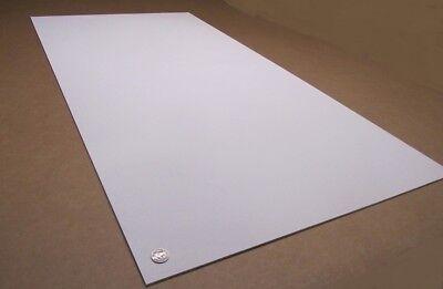 "WHITE STYRENE POLYSTYRENE PLASTIC SHEET 0.125/"" X 24/"" X 48/"" 1//8/"" VACUUM FORMING"