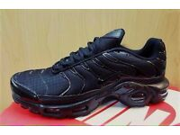 "Brand new in box - NIKE AIR MAX PLUS Tn ""TRIPLE BLACK"""