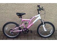 """Bike/Bicycle.GIRLS VERTIGO """" VESUVIUS """" MOUNTAIN BIKE.SUIT 6-9 YEARS"""