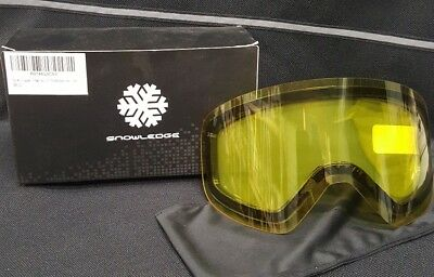 d680989e1cc Snowledge Ski Snowboard Goggles Magnet Dual Layers Lens Snow Goggles UV Pro