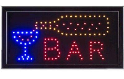 Bright Animated Led Light Bar Store Window Sign 19x10