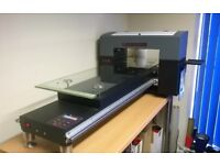 DTG printer with RIP software A3 size 1000mm length 6 colours multi-function flatbed T-shirt printer