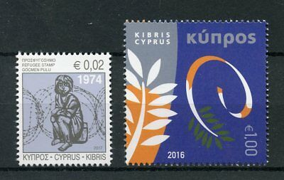 Cyprus 2016 2017 European Council Chair Refugee 1974 2v Set Politics Stamps