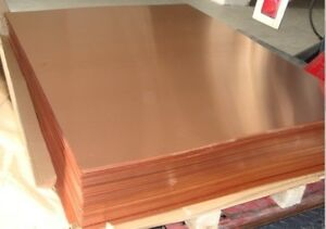 Copper sheets for sale 8'x3'