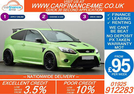 2010 FORD FOCUS RS 2.5 GOOD / BAD CREDIT CAR FINANCE FROM 95 P/WK