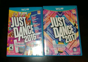 Just Dance 2016 and 2017 for WiiU